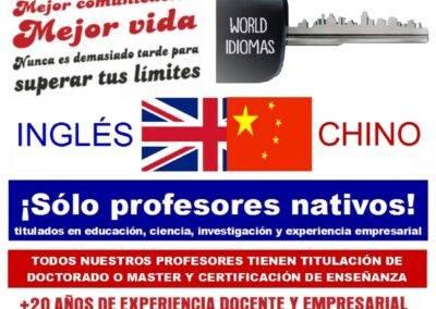 clases ingles y chino Aranjuez